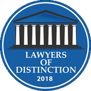 Jason Kadish Lawyers of Distinction Badge 2018